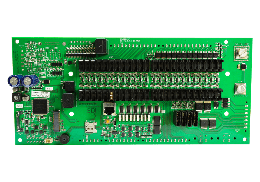 Fire brigade central electronics, FW-ZE type I-II, freely programmable